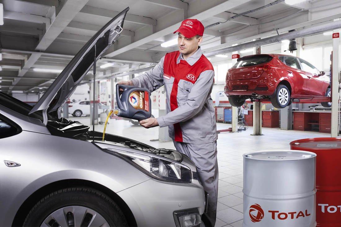 какое масло лить в двигатель total рекомендует завод киа рио